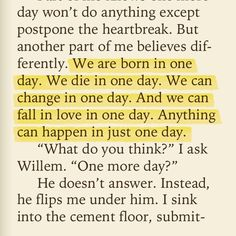 just one day- gayle forman
