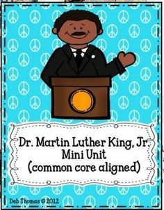 Martin Luther King, Jr. Unit and Crafts (CCSS Aligned)