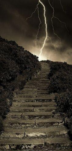 Arthur's Steps in Edinburgh, Scotland...