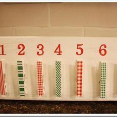 Clothespin Christmas Countdown Calendar {Christmas Countdown}
