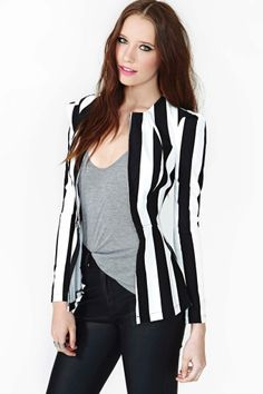 Line Up Peplum Jacket  selected by jamesdrygoods.com for the made in america: contemporary project | #madeinusa |