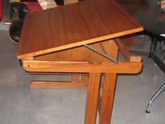 Danish Teak Tilt-Top Desk
