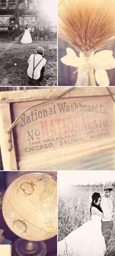 Vintage Wedding by Three Nails Photography   Style Me Pretty