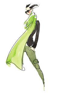 Ann Taylor Illustration #fashion, #illustration, #croqui
