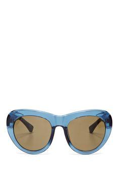 + Dries Van Noten D-Frame Acetate Sunglasses by Linda Farrow Now Available on Moda Operandi