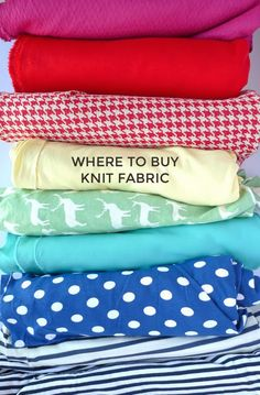 Tilly and the Buttons: Where to Buy Knit Fabric