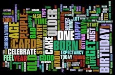 Birthday Wishes and Quotes. Here's a word cloud for ideas of what to write in a card.