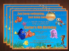 Finding Nemo Printable Birthday Party by Emmaspartycreations, $7.00