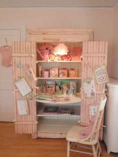 Old cupboard to creative desk cupboard