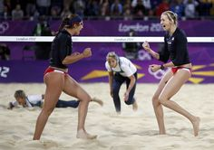 Misty May & Kerri Walsh - Beach Volleyball. Add Around The Rings on www.Twitter.com/AroundTheRings & www.Facebook.com/AroundTheRings for the latest info on the #Olympics.