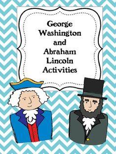George Washington and Abraham Lincoln Activities