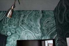 Faux Malachite Walls /Apartment Therapy-Mark Chamberlain, interior and decorative painter