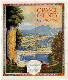 Ad for Orange County, California, 1921.