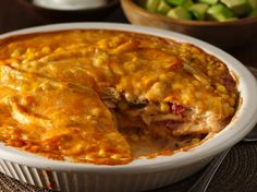 Southwest Tortilla Bake - Enjoy this Southwest bake that's made using chicken, Progresso™ Recipe Starters™ cooking sauce mixture, Green Giant® Mexicorn® corn and Old El Paso® tortillas – a delicious dinner.