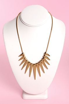 Sexy Gold Necklace - Geometric Necklace - $17.00