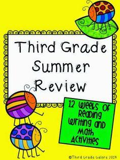 3rd Grade Summer Review Packet - Third Grade Galore