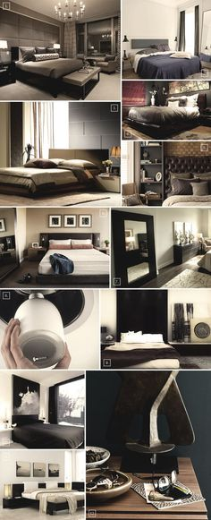 Mens Bedroom Ideas - Love these masculine bedrooms images.  Image #7 has my mirror, a bit wider and shorter than mine.