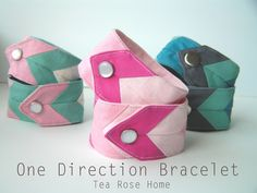 Tea Rose Home: Tutorial~ One Direction Bracelet