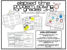 Elapsed Time Math Practice Activities Grades 3-5 $