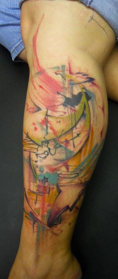 Abstract tattoos on pinterest street tattoo watercolor for Modern art tattoo