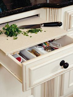 cutting board within your drawer - kitchen gadget must have