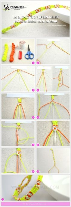 An Inspiration of Friendship Bracelet Making Ideas with String