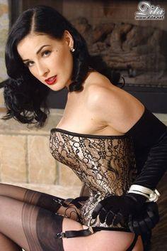bdsm, icon, tie, vontees, corset, dita von teese, beauti, sexi pinup, lingeri