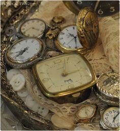 Vintage Clocks on Lace