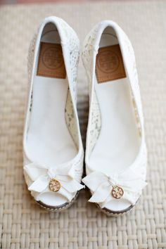 Tory Burch wedges, photo by Sarina Love Photography http://ruffledblog.com/hilton-san-diego-wedding #weddingshoes #shoes