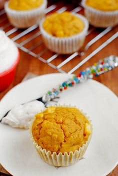 PumpkinAppleMuffins http://iowagirleats.com/2012/10/11/apple-pumpkin-muffins-with-cinnamon-cream-cheese-slather/