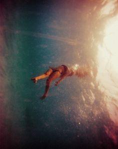 Just below the water ....