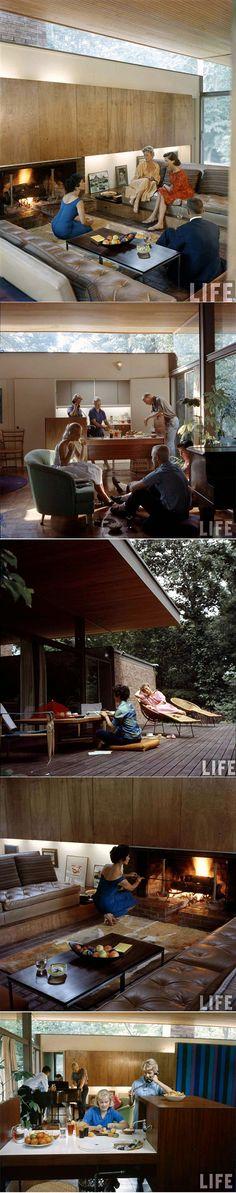 LIFE Magazine, 1958: Beattie Residence. A conversation pit! [mid century modern 1960s vintage photo]. Repinned by Secret Design Studio, Melbourne.  ww.secretdesignstudio.com