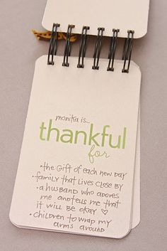 ...is thankful for...