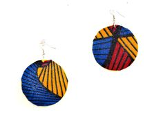 Fabric Cover Earrings African Jewelry Gifts For by ZabbaDesigns