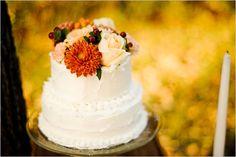 fall wedding cake, colori diversi, ma no fioroni