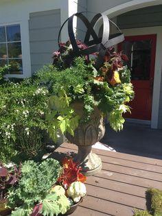 @kennethwingard creates an Autumnal DIY Planter! #autumn #fall #planter #porch #decor #DIY #homeandfamily #homeandfamilytv