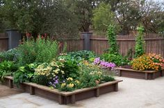 These raised vegetable beds have beauty as well as bounty! From Equinox Landscape in CA.