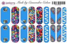 Disney's Up inspired nail wraps.  Design your own in the Jamberry Nail Art Studio:  www.tiptaptoe.jamberrynails.net