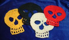 Crochet Yourself Happy!!!: Day of the Dead Crochet Skull Pattern