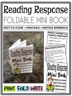 Reading Response Mini Book (foldable, printable, fun-filled resource!) from The Classroom Sparrow on TeachersNotebook.com -  (8 pages)  - This mini book is a great addition to any English Language Arts classroom. Students no longer have an excuse for misplacing their notes, or not knowing what to include in a reading response journal.