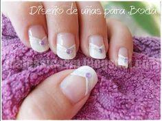 ▶ Diseño de uñas para Boda (para uñas largas) - YouTube