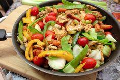Delicious Skinny Chicken Stir Fry and Corn Salad - Maya Kitchenette