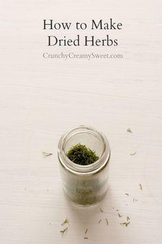 How to Make Dried Herbs How to Make Dried Herbs at Home #diy #tutorial
