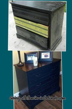 Painted black base with General Finishes Java Gel top.