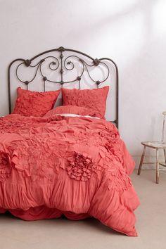 Georgina Duvet #anthropologie headboard, bed frames, guest bedrooms, color, duvet covers, anthropologie, georgina duvet, guest rooms, girl rooms