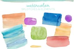 Check out Watercolor Elements by angiemakes on Creative Market