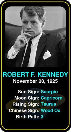 Celeb #Scorpio birthdays: Robert F. Kennedy's astrology info! Sign up here to see more: https://www.astroconnects.com/galleries/celeb-birthday-gallery/scorpio?start=150  #astrology #horoscope #zodiac #birthchart #natalchart #robertfkennedy