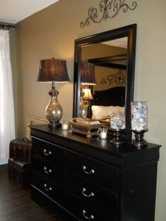 southern charm home decor idea for painting long dresser