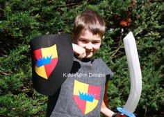 Boys Knight Costume  tunic and shield by KiddieWinkDesigns on Etsy, $25.00