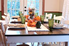 Pretty autumn tablescape from @Ashley | Attempts At Domestication! #turkeytablescapes
